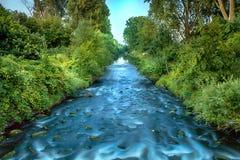 Fluss nahe im Wald Lizenzfreie Stockbilder