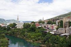 Fluss Neretva in Mostar Stockbilder