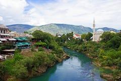 Fluss Neretva in Mostar Lizenzfreie Stockfotografie