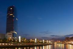 Fluss nervion, Abandoibarra, Bilbao Lizenzfreie Stockbilder