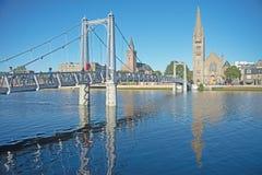 Fluss Ness in Inverness Lizenzfreie Stockfotografie