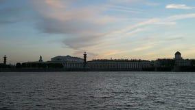 Fluss Neva, Sonnenuntergang stock footage