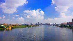 Fluss Nil und Kairo lizenzfreies stockbild