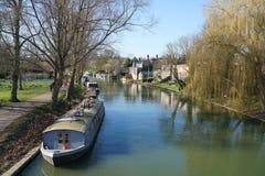 Fluss-Nocken, Cambridge, England Stockbilder