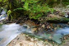 Fluss in Ojo Guareña Stockbilder