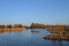 Fluss Oude IJssel Lizenzfreies Stockbild
