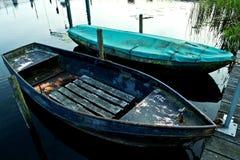 Fluss Oude IJssel mit Ruderboot Stockfotos