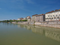 Fluss PO Turin Stockbild