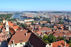 Fluss in Prag Lizenzfreies Stockfoto