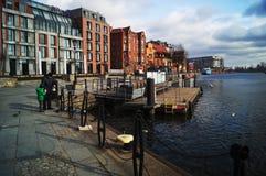 Fluss Quay in Gdansk Stockbilder