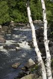 Fluss in Quebec stockfotos