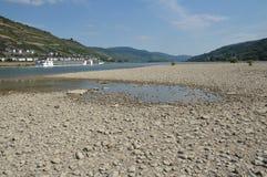 Fluss Rhein oben getrocknet Lizenzfreie Stockbilder