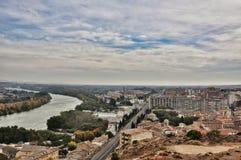 Fluss Rio Cidacos in Olite Lizenzfreie Stockfotografie