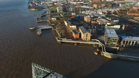 Fluss-Rumpf, Kingston Upon Hull stock video footage