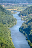 Fluss Saar in Deutschland Stockfoto