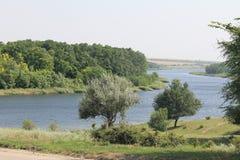 Fluss Saksagan in Ukraine Lizenzfreies Stockbild