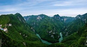 Fluss-Schlucht-Flüsse Chongqing Yunyang Longtan National Geoparks tiefe Stockfotografie