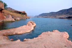 Fluss-Schluchtströme Xi'ans Jinghe Stockfoto