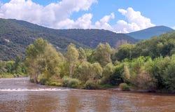 Fluss Segre Stockfoto