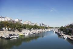 Fluss Seine Stockfoto