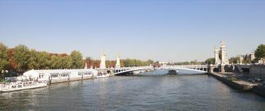 Fluss Seine Stockfotografie