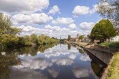 Fluss Severn Worcester England Spring lizenzfreie stockfotografie