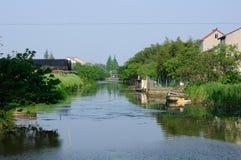 Fluss in Shanghai China Lizenzfreies Stockbild