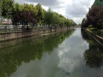 Fluss in Shanghai China Stockbild