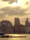 Fluss Shanghai-Huangpu Stockfoto