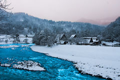 Fluss Shirakawa-gehen herein Japan Stockbild