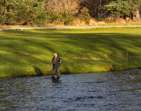 Fluss Spey, Eröffnungstag von Fangzeit 2014. Stockbilder