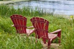 Fluss-Stühle Lizenzfreie Stockfotografie