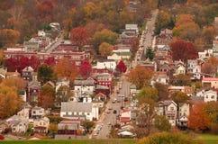 Fluss-Stadt USA Stockbild