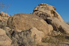 Fluss-Steine am Joshua-Baum-Park Stockfotos