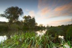 Fluss Stour Sonnenaufgang Lizenzfreie Stockfotos