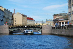 Fluss in Str. - Petersburg.Fontanka Stockbilder