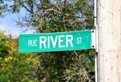 Fluss-Straße stockfotos
