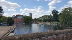 Fluss Stratford nach Avon Shakespeare Stockfotografie