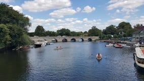 Fluss Stratford nach Avon Shakespeare Lizenzfreie Stockfotos