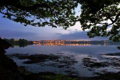 Fluss-Tamar-Abend lizenzfreies stockbild