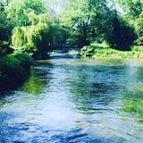 Fluss-Test Romsey Stockbilder