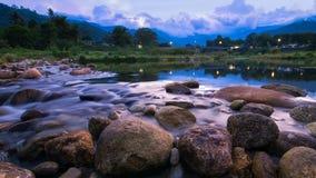 Fluss in Thailand stockbild