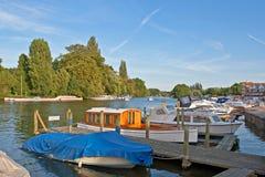 Fluss Themse bei Henley Lizenzfreies Stockfoto