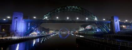 Fluss Tyne nachts Lizenzfreies Stockfoto