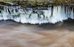 Fluss-Ufer-Eis Stockbild