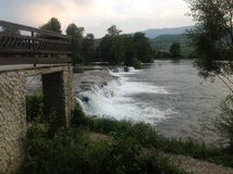 Fluss Una, Bosnien 2 Lizenzfreies Stockfoto