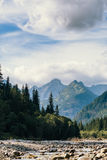 Fluss und Berge, Seeauge, Polen, Zakopane Lizenzfreies Stockbild