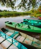 Fluss und Boot Stockfoto