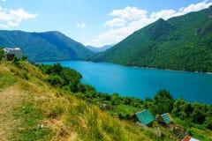 Fluss und See Piva Stockfoto