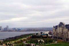 Fluss und Stadt Kazan, Russland Stockfotos